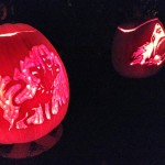 Three Headed Wolf and Shark Pumpkins