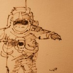 Astronaut Drawing Houston Space Center