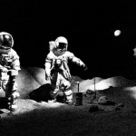 Houston Space Center Men Walk on Moon