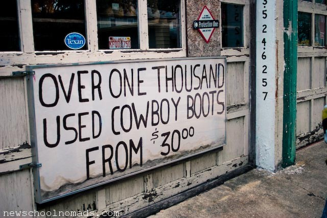 Over 1000 Used Cowboy Boots Texas Junk - Newschool Nomads