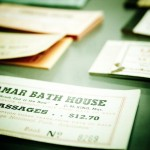 Lamar Bath House Vintage Tickets
