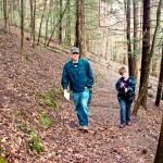 Father Son Hiking Smokey Mountains