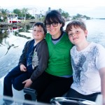 Mama and Boys Port Charlotte Canals