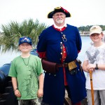 The boys and a soldier Castillo de San Marcos