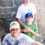The boys at Castillo de San Marcos