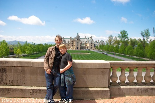 NC Thing One and Dad Biltmore House