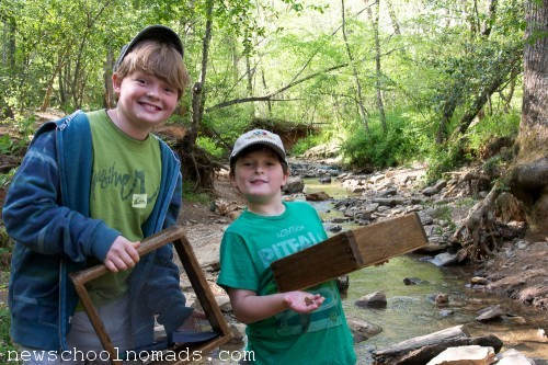 Creek Panning at Hiddenite Gems NC