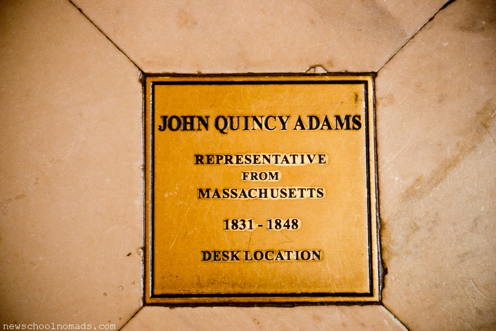 John Quincy Adams Desk Location
