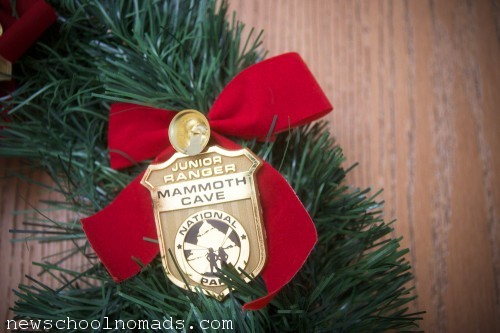 Jr Ranger Wreath Badge Mammoth
