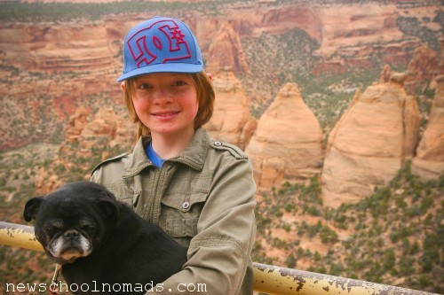 Thing One and Nico Colorado National Monument