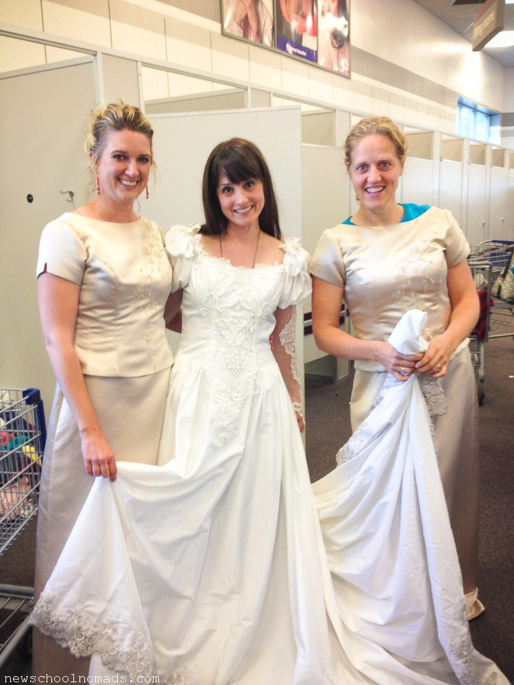 Thrift Store Wedding Dress Provo UT | Newschool Nomads