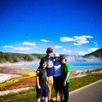 Family in Yellowstone NP