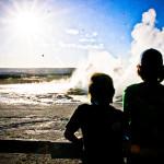Silhouette Geyser Yellowstone