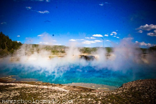 Steam Rising Yellowstone