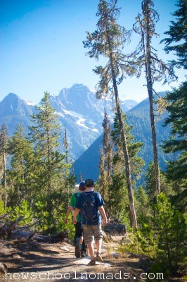 Hiking in North Cascades National Park WA