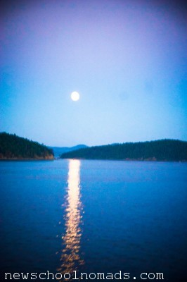 Moon from Ferry San Jaun Islands WA