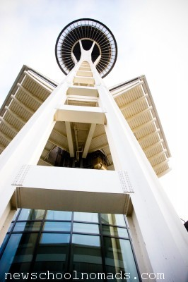 Space Needle From Below