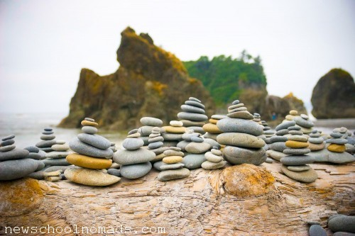 Rock Piles Ruby Beach WA