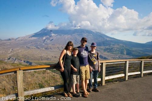 Family Mt St Helens WA