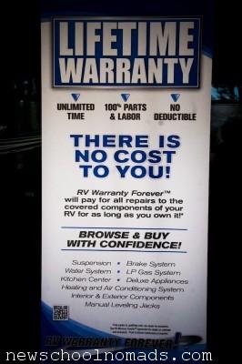 Lifetime RV Warranty