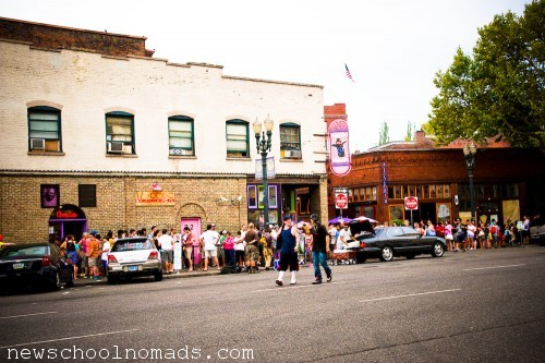 Line at Voodoo Doughnuts Portland OR