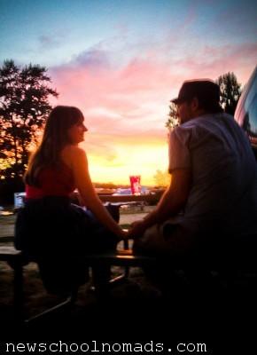 Sunset Camping Portland Oregon