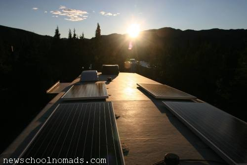 Solar panels in the Wild: Denali National Park, Alaska