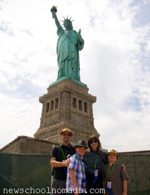 Family Statue of Liberty NYC