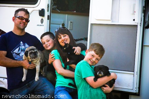 Family on the Road in RV