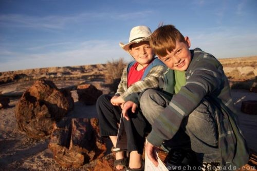 Brothers at Petrified National Forest