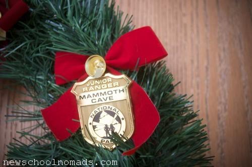 Jr Ranger Wreath Badge Mammoth