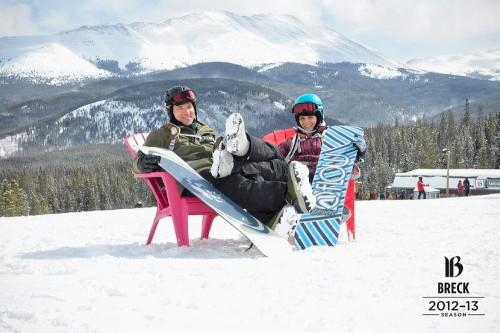 Lounging Snowboard Epic Mix