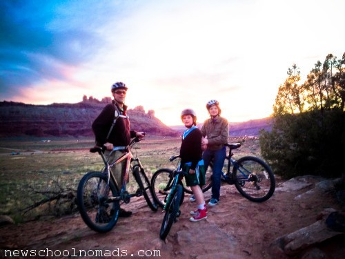 Family Mountain Bike Ride Moab