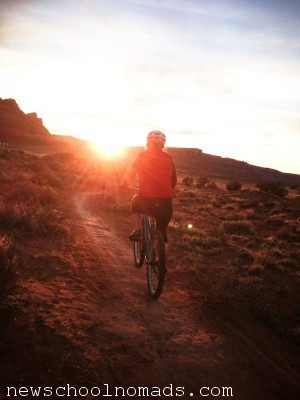 Mountain Biking Moab Sunset