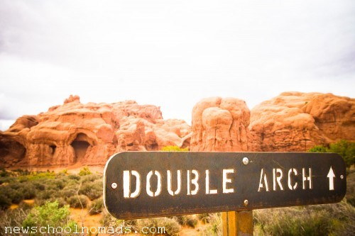 Double Arch Moab Utah