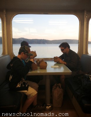Dessert and Sunset Ferry from Orcas Island WA