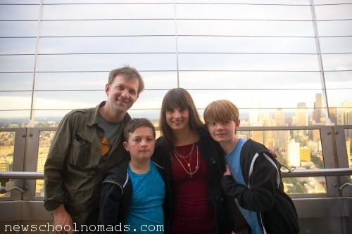 Family on Space Needle WA