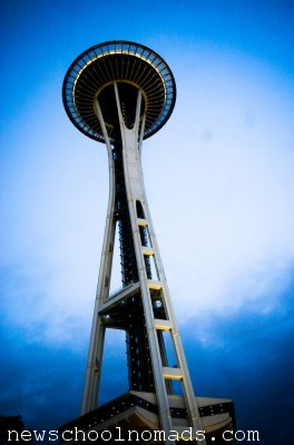 Seattle Space Needle at Dusk WA