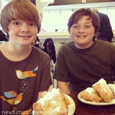 Boys and Beignets in Baton Roughe