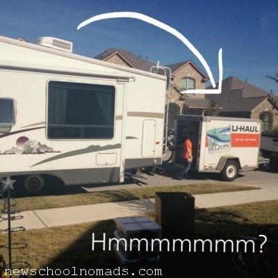 Little Uhaul big trailer