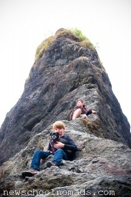 Rock Climbing Ruby Beach WA