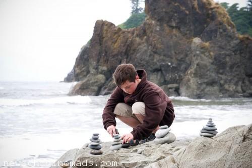 Stacking Rocks Ruby Beach WA